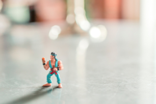 Action figure doing karate chop