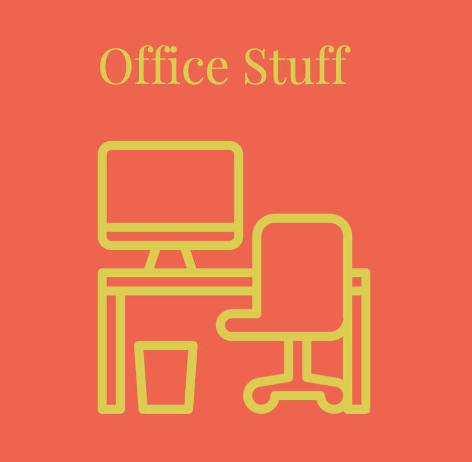 Graphic of office furniture