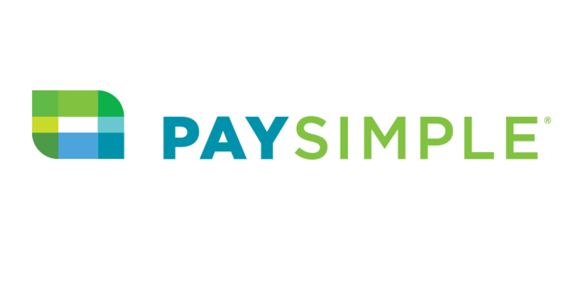 PaySimple Logo in blue and bright green