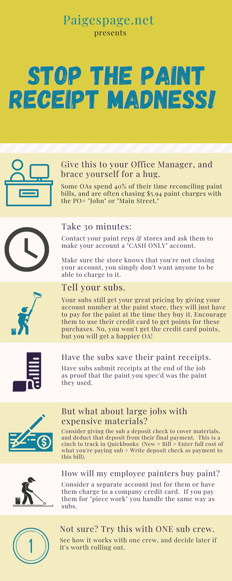 Stop the paint receipt madness infographic